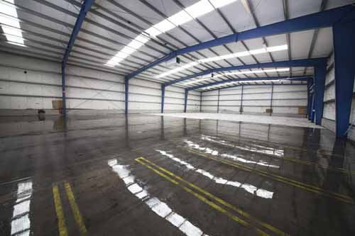 gegossener Boden für Lagerhallen