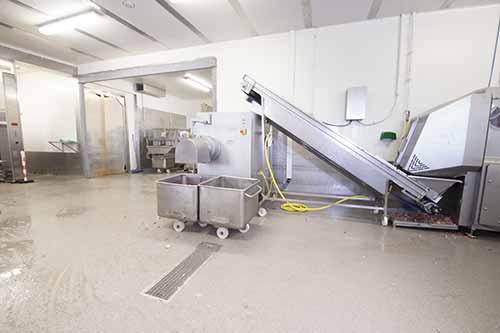 gegossener Boden für die Lebensmittelindustrie