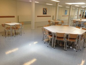 Coated floors for the canteen