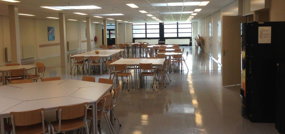 Coated floor in company canteen