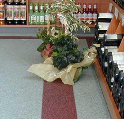 Quarzboden im Weinfachhandel
