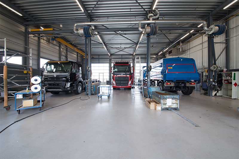 Coated floor Volvo trucks