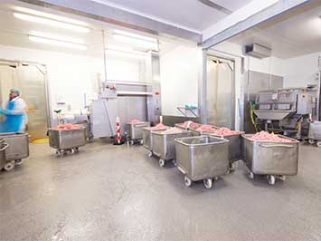 Coatingvloer voor voedingsmiddelen