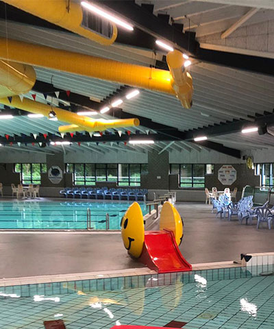 Nieuwe zwembadvloer