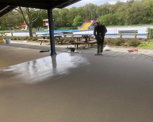 Renovatie bij een zwemvereniging