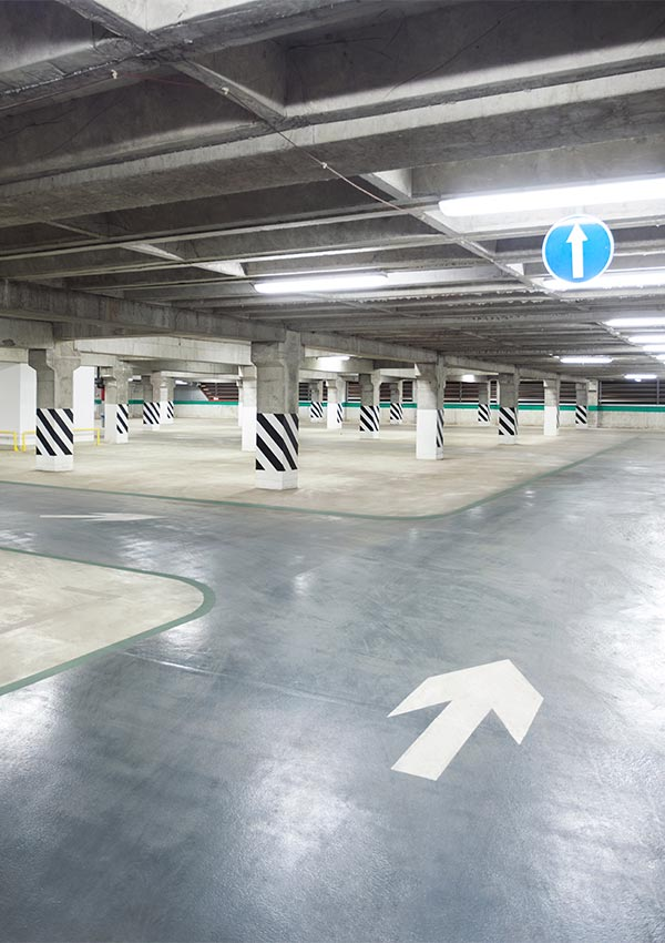 Parkeerplaats coating antislip