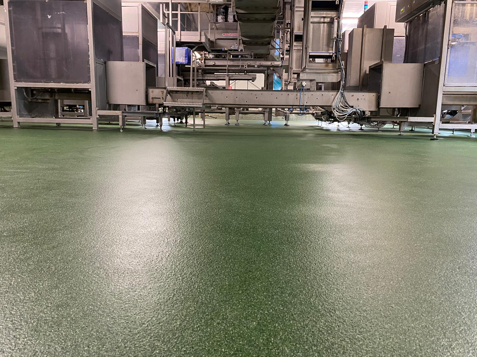 Coated floor in all RAL colours